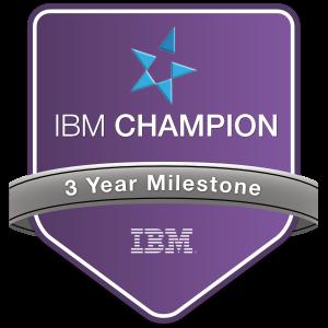 IBM Champion 3 Year Milestone