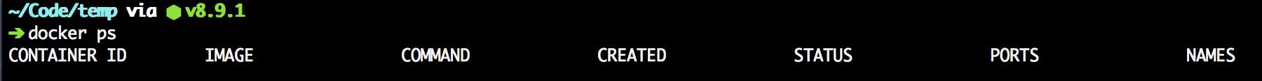 docker ps empty screenshot