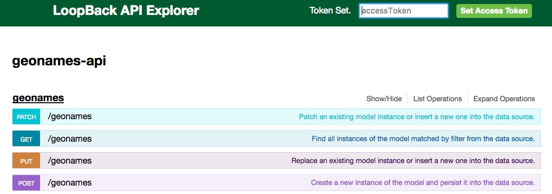 loopback explorer screenshot